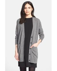 Vince - Gray Button Cardigan - Lyst