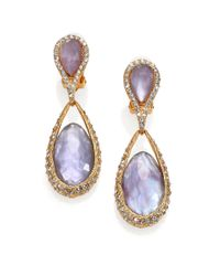 Alexis Bittar | Purple Elements Maldivian Mother-Of-Pearl & Crystal Doublet Drop Earrings | Lyst