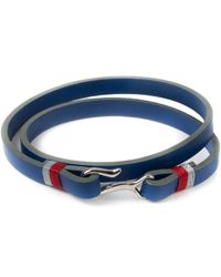 Miansai | Blue Foksol Silver Bracelet for Men | Lyst