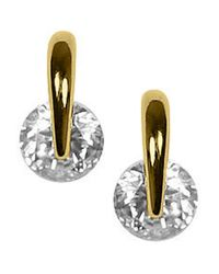 Givenchy | Metallic Goldtone And Crystal Stud Earrings | Lyst