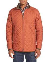 Peter Millar | Brown 'chesapeake' Water Resistant Quilted Jacket for Men | Lyst