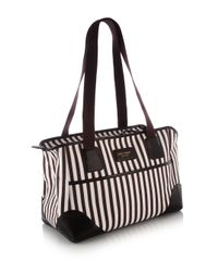 Henri Bendel - Black Stripe Canvas Dog Carrier - Lyst