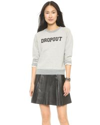 Mother - Gray The Square Sweatshirt - Name Calling - Lyst