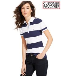 Tommy Hilfiger - Blue Short-sleeve Stripe Rugby Polo - Lyst