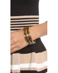 Michael Kors - Metallic 5 Stack Bangle Bracelets  - Lyst