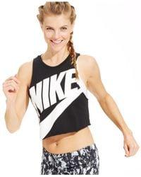 Nike - Black Track & Field Sleeveless Crop Top - Lyst