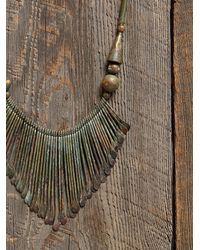 Free People - Metallic Vintage Brass Dangle Necklace - Lyst