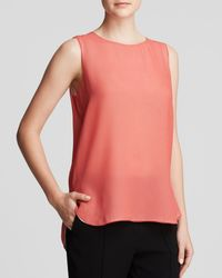 Vince - Pink Tank - Color Block Double Layer - Lyst