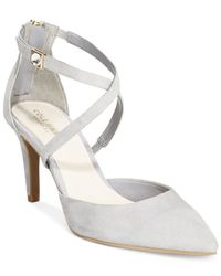 Cole Haan | Gray Juliana Ankle Strap 75 Pumps | Lyst