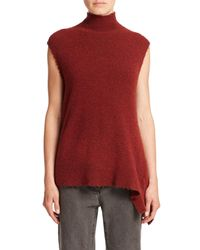 3.1 Phillip Lim | Red Sleeveless Mock-neck Pullover | Lyst