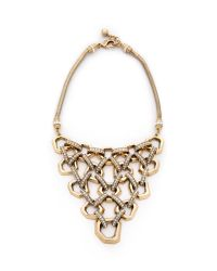 Lulu Frost | Metallic Narcissus Necklace - Clear/gold | Lyst