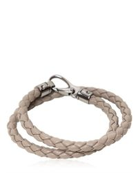 Tod's | Gray My Colors Double Wrap Leather Bracelet for Men | Lyst