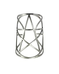 Pamela Love | Metallic Mini Pentagram Cuff In Antique Silver | Lyst