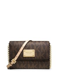 MICHAEL Michael Kors | Brown 'large Jet Set' Crossbody Phone Bag | Lyst