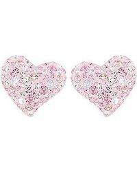 Swarovski | Pink Alana Pierced Earrings | Lyst