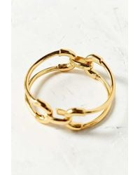 Giles & Brother - Metallic Cortina Double Link Cuff Bracelet - Lyst
