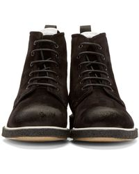 Rag & Bone | Black Suede Elliott Boots for Men | Lyst