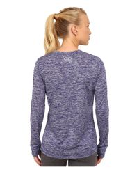 Under Armour - Purple Ua Twist Tech™ Long Sleeve - Lyst