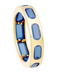Astley Clarke | Metallic Gold-plated Agate Prismic Slice Ring | Lyst