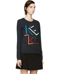 KENZO - Multicolor Teal Logo Sweatshirt - Lyst