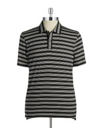 Michael Kors | Black Striped Polo for Men | Lyst