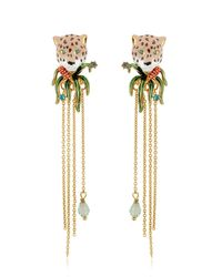 Les Nereides | Metallic Charmant Fèline Earrings | Lyst