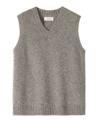 Toast | Gray Plain Vest for Men | Lyst