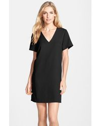 Felicity & Coco - Black Crepe Shift Dress - Lyst