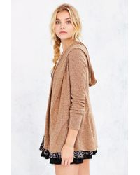 Silence + Noise - Brown Bleeker Drapey Cardigan - Lyst