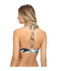 Mikoh Swimwear | Multicolor Waimea Halter Top With Woven Detail | Lyst