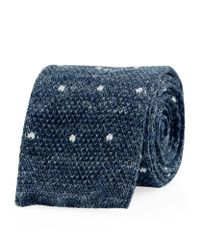Hackett - Blue Mayfair Knitted Dot Tie for Men - Lyst