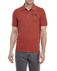 G-Star RAW | Brown Hav Pique Polo for Men | Lyst