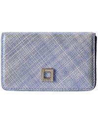 Lodis | Blue Sophia Cross Hatch Mini Card Case | Lyst
