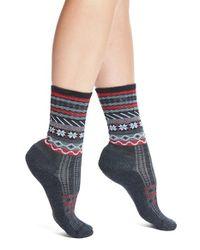 Smartwool | Gray 'falke Isle' Merino Wool Blend Crew Socks | Lyst