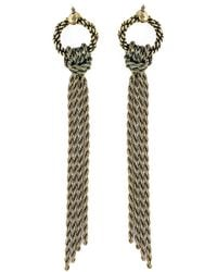 Lanvin | Metallic Pierced Earrings | Lyst