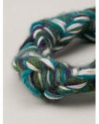 The Elder Statesman - Green Cashmere Bracelet - Lyst