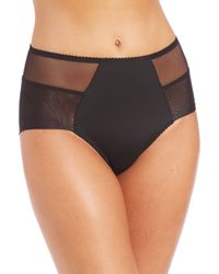 Fortnight | Black Seamless High-waist Bikini Brief | Lyst