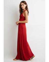Forever 21 | Red Braided Strap Maxi Dress | Lyst