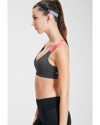 Forever 21 - Gray Low Impact - Heathered Strappy Sports Bra - Lyst