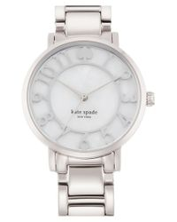 kate spade new york - Metallic 'gramercy' Mother-of-pearl Bracelet Watch - Lyst