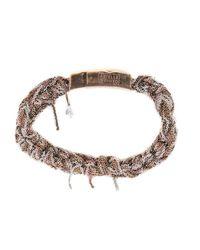 Arielle De Pinto | Purple Tunisian Row Bracelet In Sterling Silver + Rose Gold | Lyst