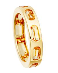 Astley Clarke | Metallic Gold-plated Citrine Prismic Slice Ring | Lyst