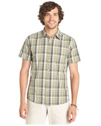 G.H. Bass & Co. - Green Cascade Plaid Poplin Short Sleeve Shirt for Men - Lyst
