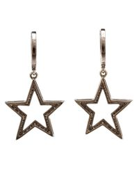 Rosa De La Cruz - Multicolor Diamond Star Drop Earrings - Lyst