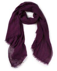 Faliero Sarti - Purple Biat Solid Scarf - Lyst