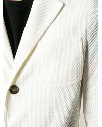 Giorgio Armani - White Pique Blazer for Men - Lyst