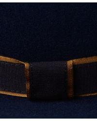 Christys' - Blue Asymmetrical Crown Hat - Lyst