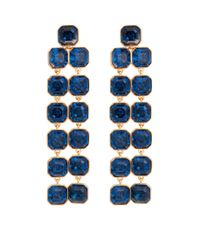 Henri Bendel | Blue Windsor Geo Chandelier Earrings | Lyst