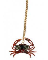 Matthew Williamson | Metallic Cancer Pendant Necklace | Lyst