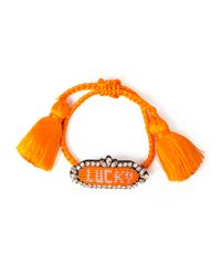 Shourouk | Orange Athena Beaded Bracelet | Lyst